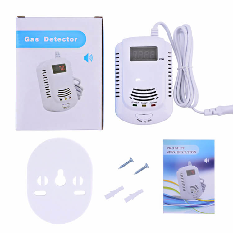 home natural gas detector alarm with factory price
