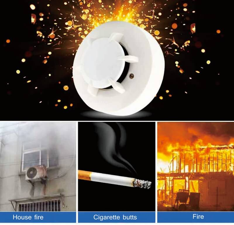 types of fire detectors including hard wired smoke alarms