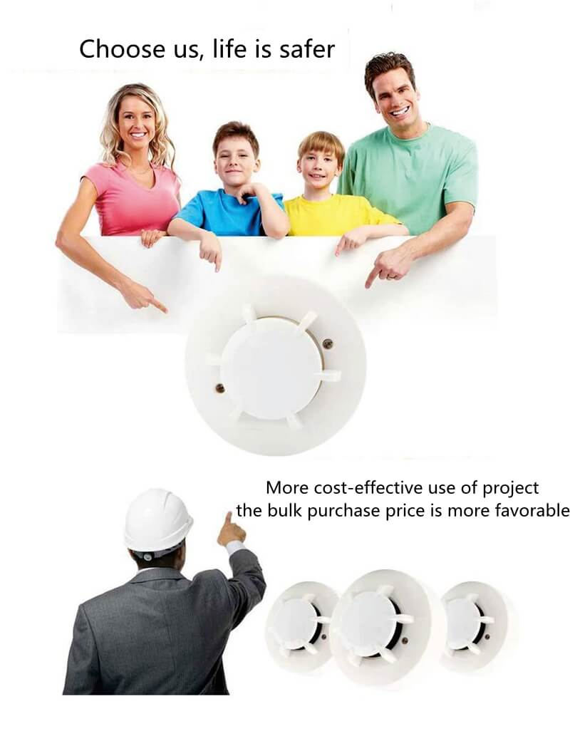 hard wired smoke alarm and types of fire detectors for family
