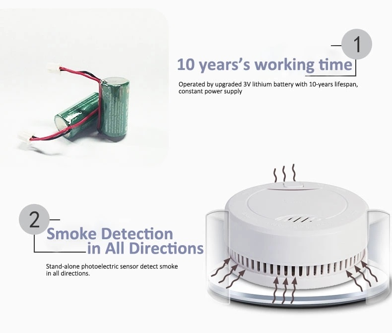 smoke and fire detectors best fire detectors with ten years battery
