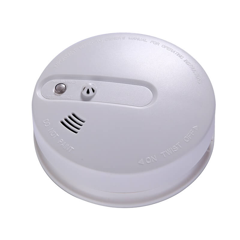 Fire detector photoelectric smoke detector and heat detector