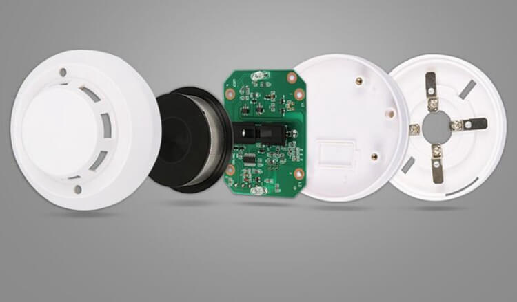 commercial types of smoke alarms with Infrared photoelectric sensor