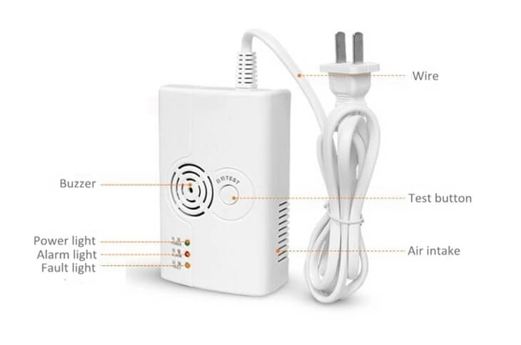 standalone home gas leak detector lpg detector with AC110v or 220v