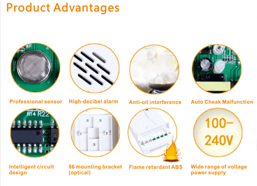 advantages for lpg gas alarm and gas detector lpg