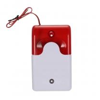 security siren fire alarm strobe light home burglar fire alarm sirenwith flash