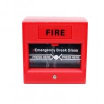 Access control door fire button emergency break glass fire alarm call point