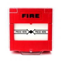 Resettable conventional emergency manual fire alarm call point fire button