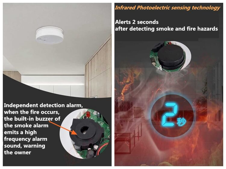 stand alone smoke detector home smoke detectors and heat detector