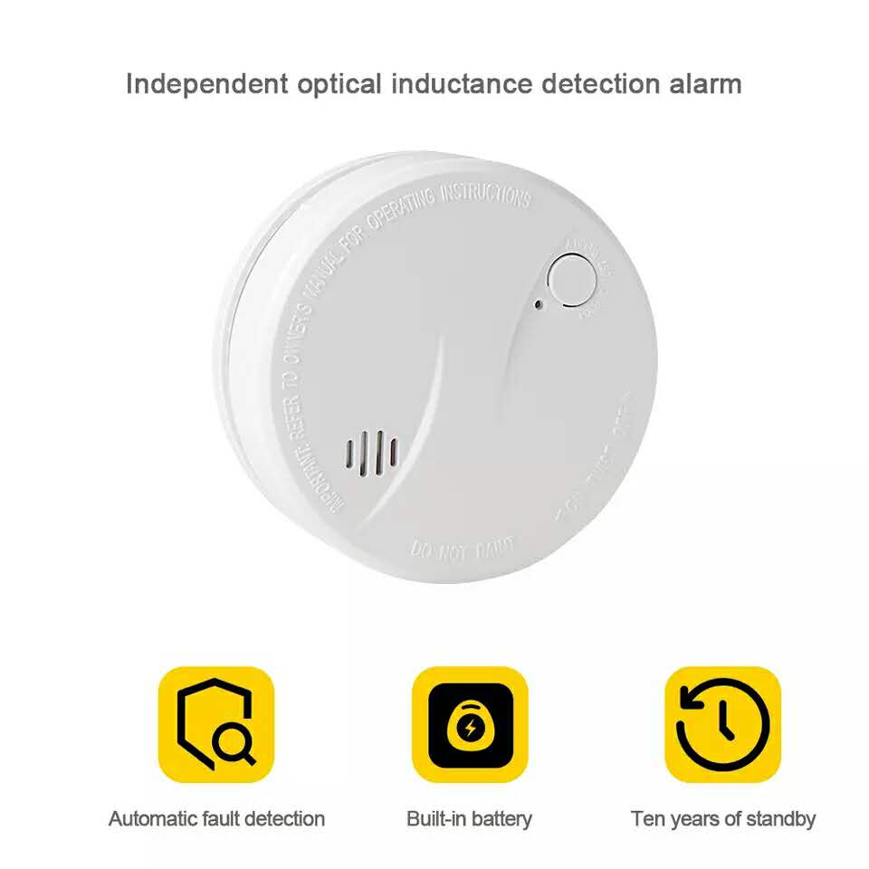 10 year smoke alarm 10 year fire smoke detector with 3v battery