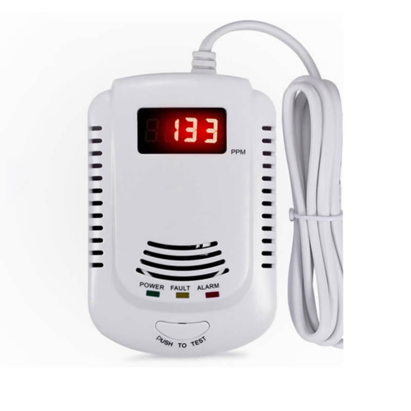 Home combustible best natural gas leak detector alarm with 9v battery