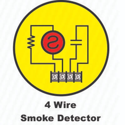 What is a four wire smoke detector ?
