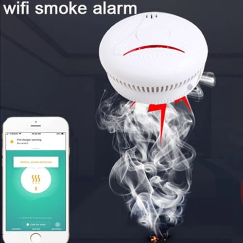 Worry-free travel, smart smoke alarm with app for you !