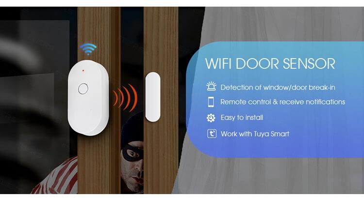 smart door sensor wifi door alarm