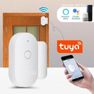 Magnetic Switch Wireless Home Security Tuya Smart WiFi Door Alarm Sensor