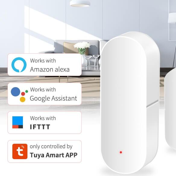 How the wifi door alarm sensor work with Google Home ?