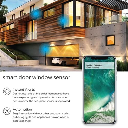 How do smart door window sensors work ?