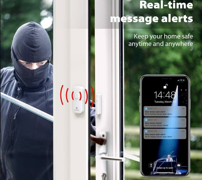 Wifi door contact alarm, protect your family safety